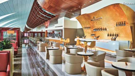 Emirates Business Class Lounge at Dubai International Airport